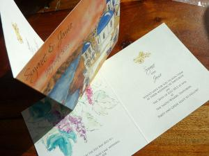 Santorini Wedding invitation