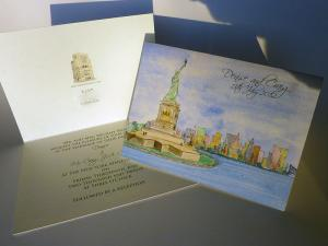 Statue of Liberty New York Wedding Invite