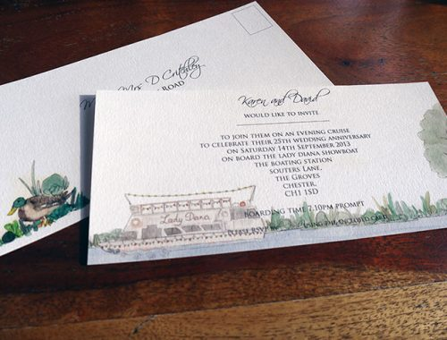 Barge wedding anniversary invite