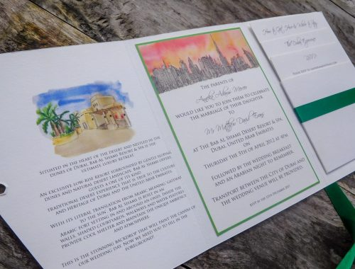 Dubai wedding invitation - Bab Al Shams Desert Resort and spa