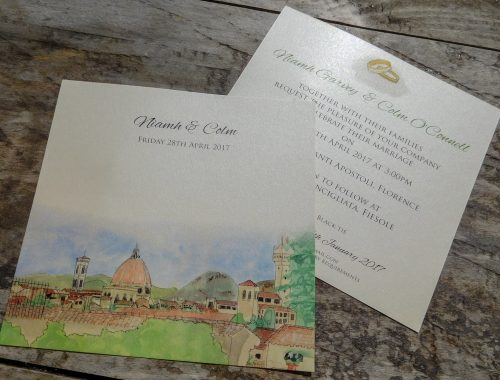 Fiesole wedding invitation