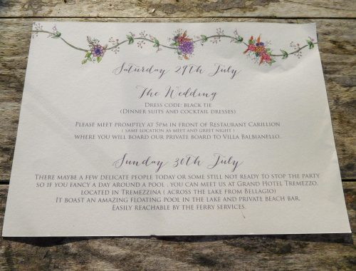 Lavender border itinerary