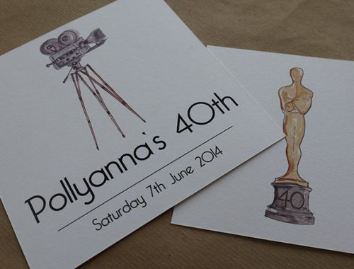 40th party invite - hollywood