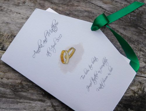 wedding rings invite