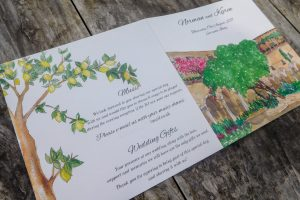 The cloisters Sorrento invitation