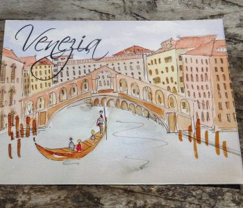 Venice table name card