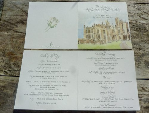 Allerton castle Order of the day