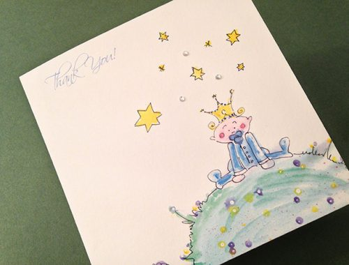 Thank you card - baby boy