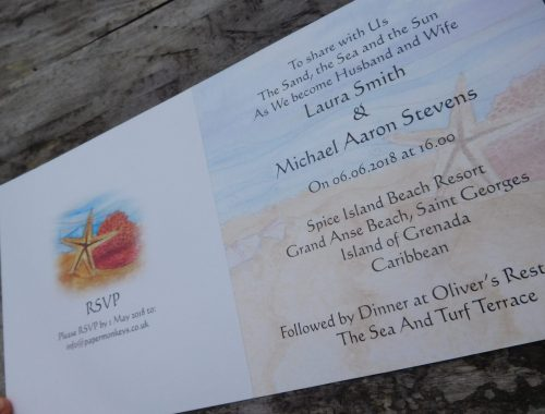 Tropical beach invite