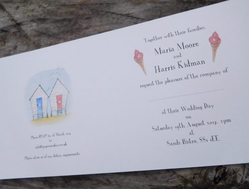 Seaside themed invitation