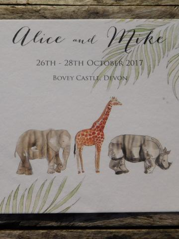 Safari theme wedding invite