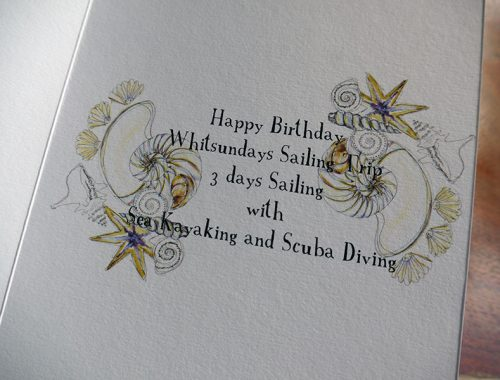 Detail from birthday card