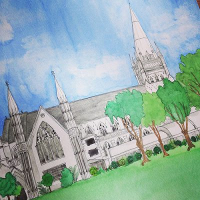Singapore Cathedral illustration