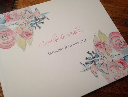 Floral theme guest book
