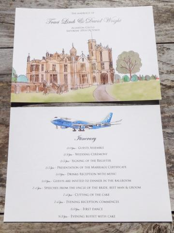 Allerton castle itinerary card